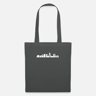 German Mining Museum Bochum skyline white - Tote Bag