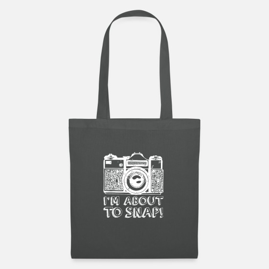 Snapchat Bags & Backpacks - About to Snap - Tote Bag graphite grey