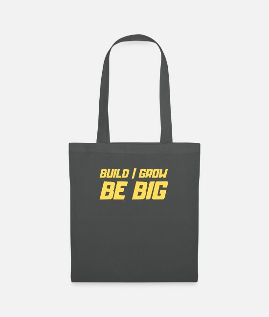 Birthday Bags & Backpacks - Be Big - Tote Bag graphite grey