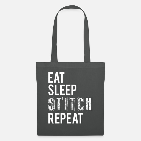 Gift Idea Bags & Backpacks - Eat Sleep Stitch Repeat T-Shirt Gift - Tote Bag graphite grey