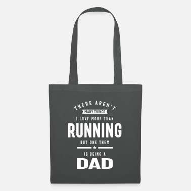 Grandparents Day I Love Being a Dad | I Love Running - Tote Bag