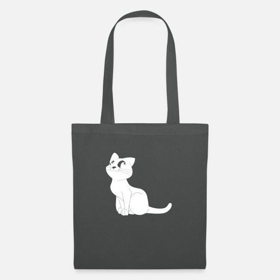 Love Bags & Backpacks - cat obediently - Tote Bag graphite grey