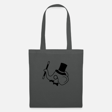 gentleman gentleman sir elephant mustache monocle glasses - Tote Bag