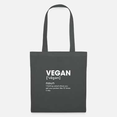 Wie 12 Mal Am Tag Vegan Definition Getting Asked Where You Get Your - Stoffbeutel