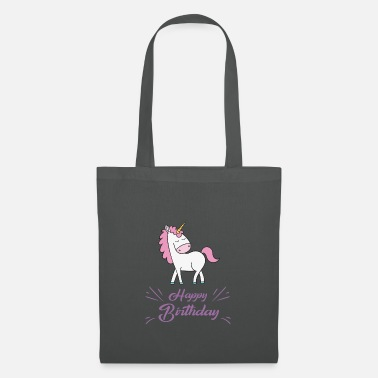 Happy Birthday Unicorn Happy Birthday - Borsa di stoffa