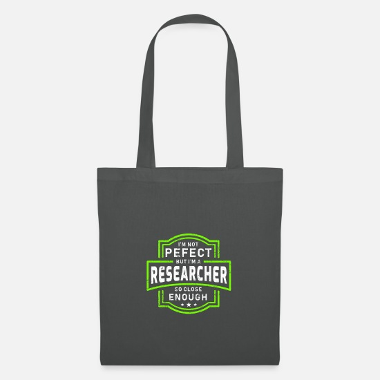 Birthday Bags & Backpacks - researcher - Tote Bag graphite grey