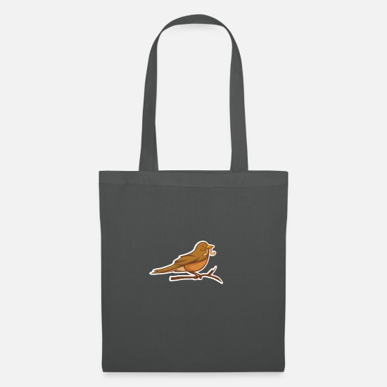 Ast Bags & Backpacks - Bird worm Funny saying saying - Tote Bag graphite grey