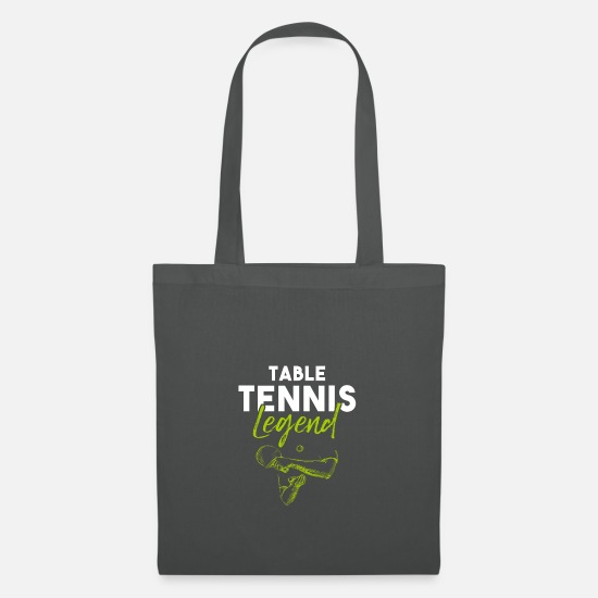 Gift Idea Bags & Backpacks - table tennis - Tote Bag graphite grey