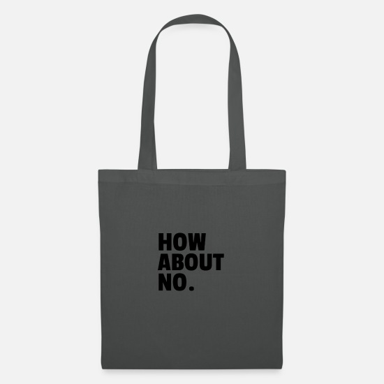 Basket Bags & Backpacks - How About No. - Tote Bag graphite grey
