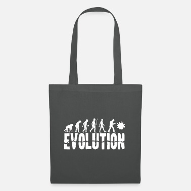 Development Of Mankind Evolution of Mankind (for dark shirts) - Tote Bag