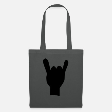 &amp Rock and roll mano de - Borsa di stoffa