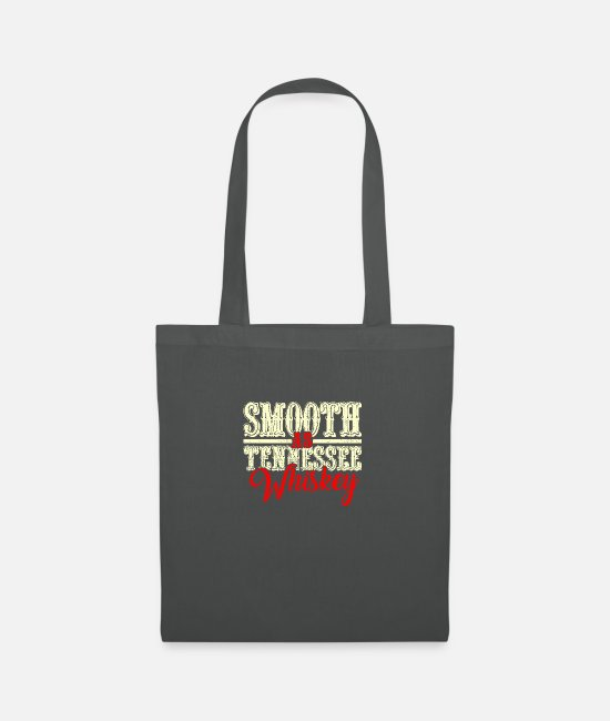 Western Bags & Backpacks - Smooth As Tennessee Whiskey - Country Music - Tote Bag graphite grey