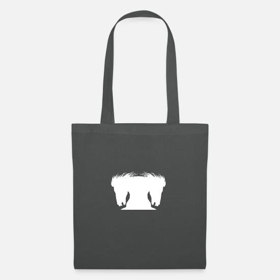 Equitation Bags & Backpacks - Stallion horse white version - Tote Bag graphite grey