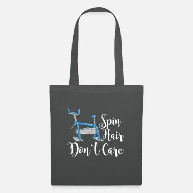 Spin Gym Indoor Cycling Cycle Bike Spin Hair Dont Care - Tote Bag