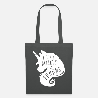 I don´t believe in humans - unicorn - Tote Bag