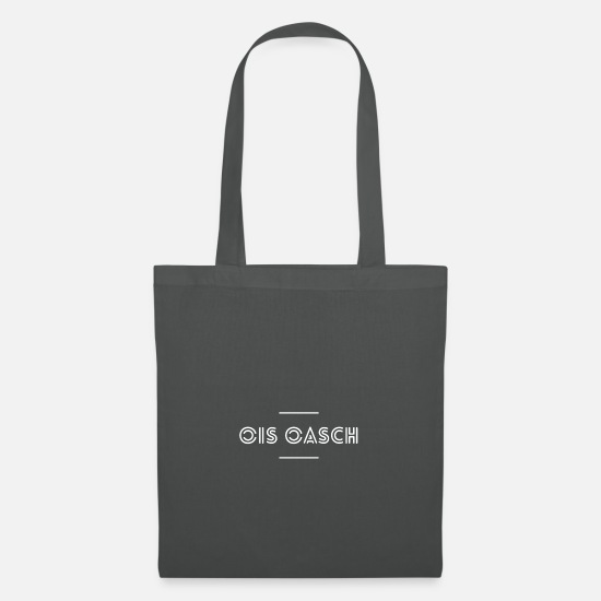 Dialect Bags & Backpacks - Viennese dialect Dialect sarcasm Funny saying - Tote Bag graphite grey
