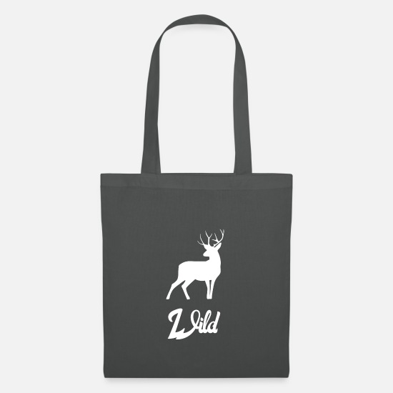 Stag Bags & Backpacks - Wild deer buck white - Tote Bag graphite grey