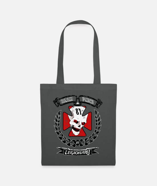New Bags & Backpacks - Brain Punch Legionnaire - Tote Bag graphite grey