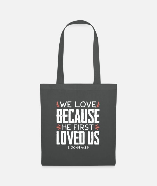 Quote Bags & Backpacks - Bible verse prayer Bible Jesus - Tote Bag graphite grey