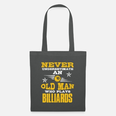 8 Ball old man billiards - Tote Bag