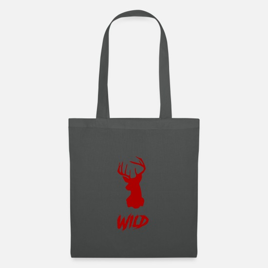 Stag Bags & Backpacks - Wild deer red - Tote Bag graphite grey