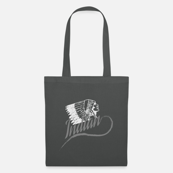 Feather Bags & Backpacks - Indian - Tote Bag graphite grey
