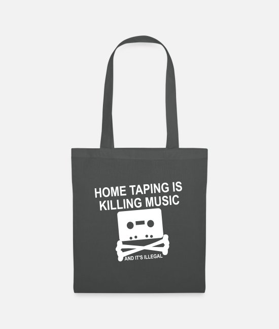 Nineties Bags & Backpacks - Personalize: Home Taping - Tote Bag graphite grey