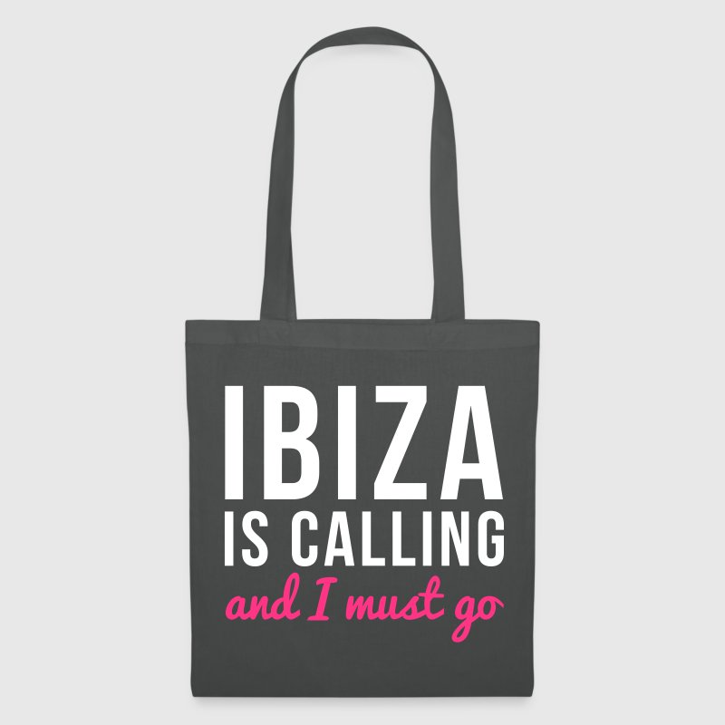 Ibiza Is Calling Music Quote - Tote Bag