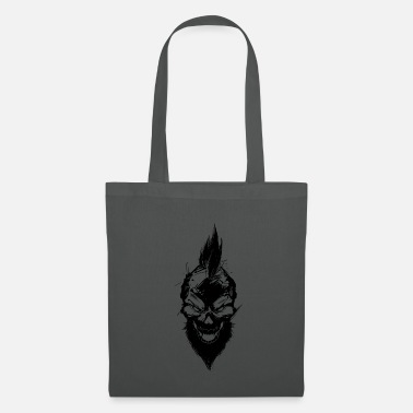 Mohawk bad skull with mohawk - Tote Bag