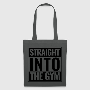 Gym Straight Into The Gym Logo schwarz - Stoffbeutel