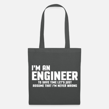 Quotes I'm An Engineer Funny Quote - Tote Bag