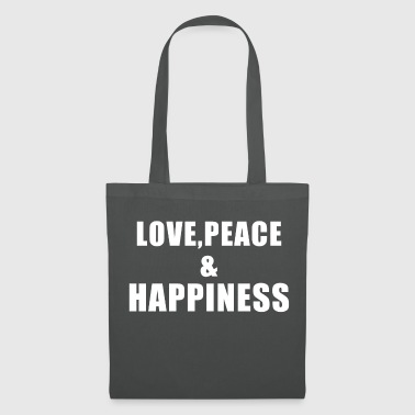 Love Peace Happiness gift - Borsa di stoffa