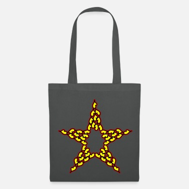 Red Star Star of hearts in yellow-red-black - Tote Bag