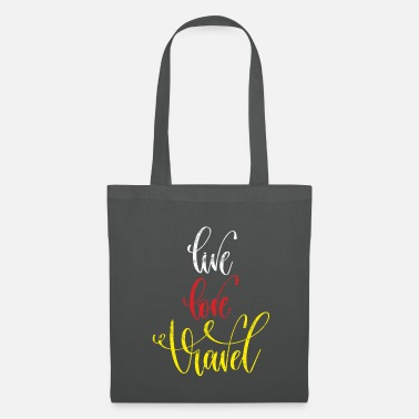 I Love Travel Travel love life saying - Tote Bag