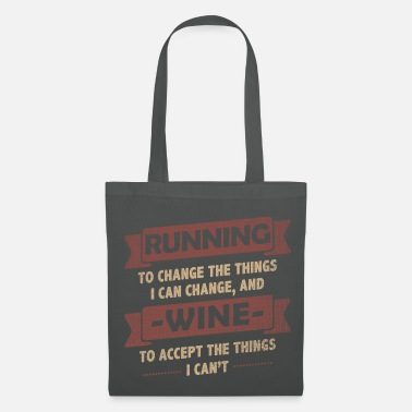 Funny Quotes Funny Quotes> Running + Wine - Tas van stof