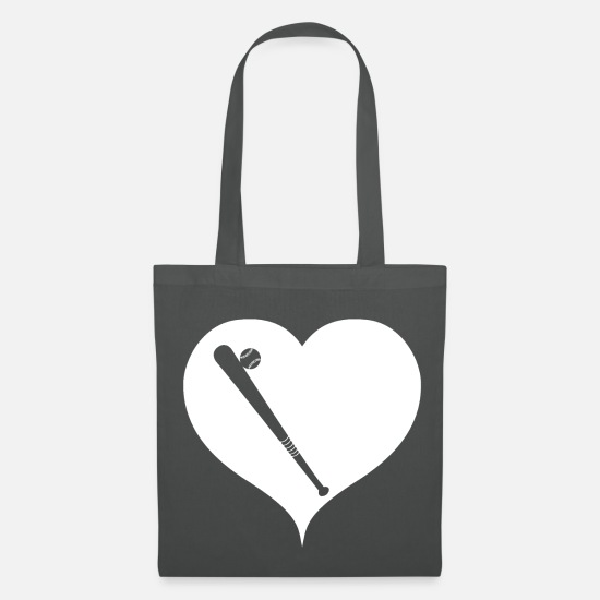 Usa Bags & Backpacks - Baseball baseball bat heart - Tote Bag graphite grey