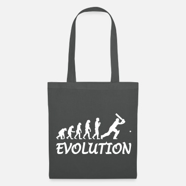 Silhouette evolution cricket - Tote Bag