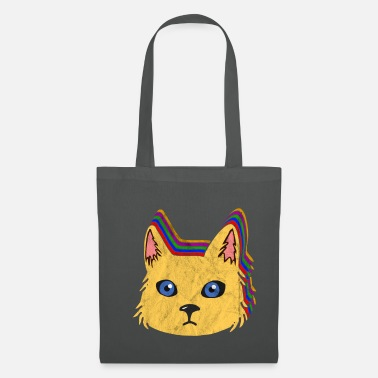 Nineties Vintage Retro Cat 80's 90's Colorful Gift - Tote Bag