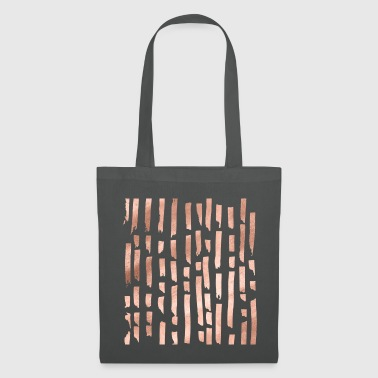 lignes d'or rose - Tote Bag