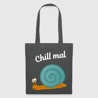 Snail Shell Chill snail blue - Tote Bag