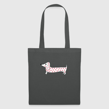 dachshund with stars - Tote Bag