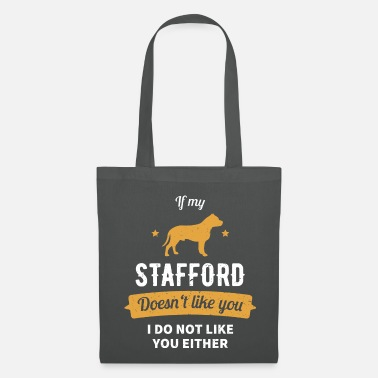 Staff Staffordshire Bull Terrier Dogs Funny Gift - Tote Bag