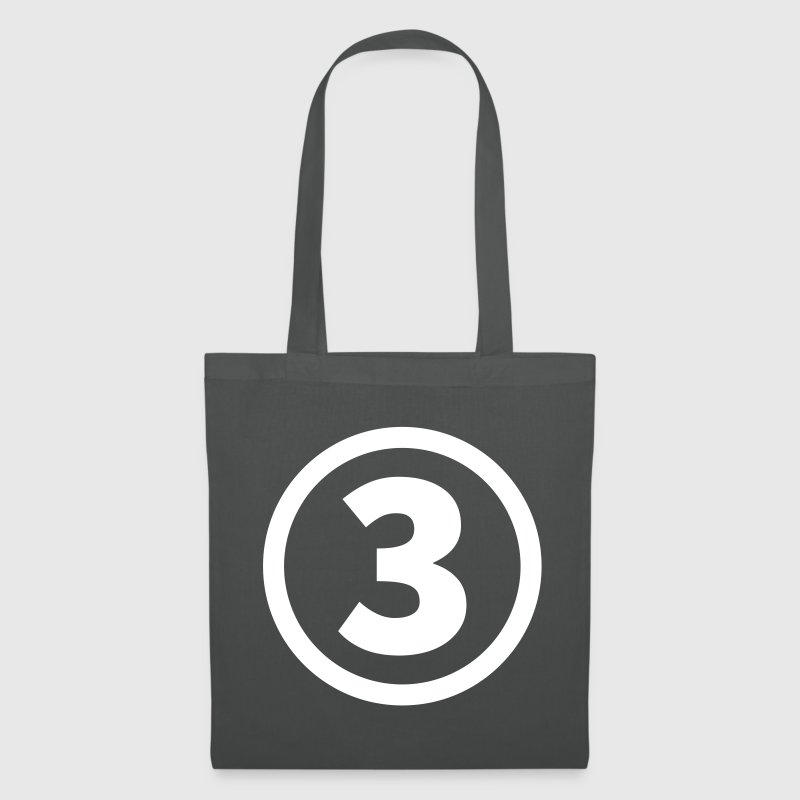 number three número tres - Bolsa de tela