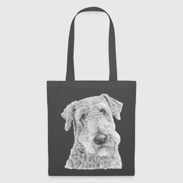 Fin airedale terrier - Tote Bag