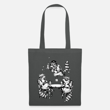 Racoon Underwater Gin Party - Tote Bag