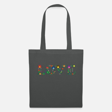 Horizontal LOVE (horizontal) - Tote Bag