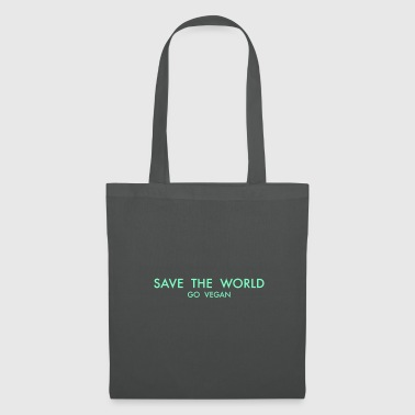 Save The World SAVE THE WORLD GO VEGAN - Tote Bag