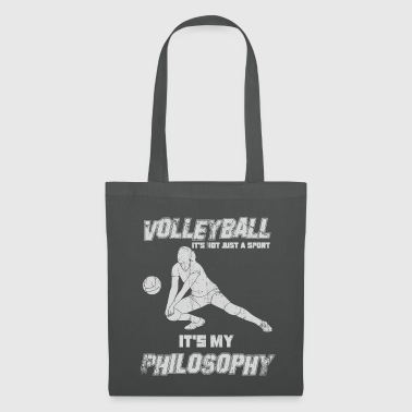 Ballsport Volleyball Philosophy Einstellung - Stoffbeutel