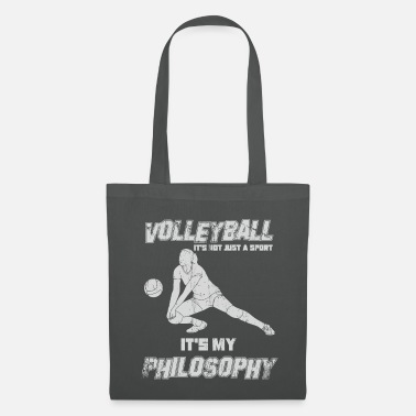 Drague Cadre de philosophie du volleyball - Tote Bag