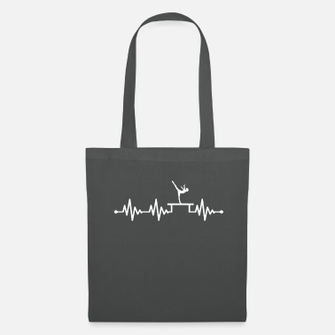 Salto Gymnastics heartbeat pulse - Tote Bag